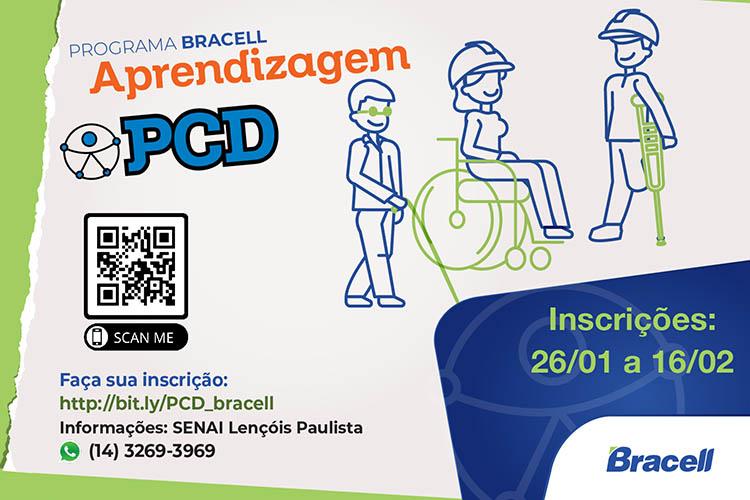 Bracell abre Programa de Aprendizagem para PCDs em parceria com o Senai em Lençóis Paulista.